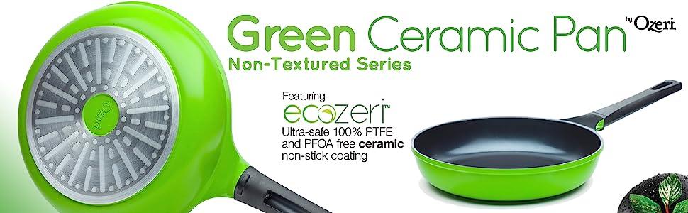 PTFE free pan; eco pan; green earth pan; griddle; sauce pan